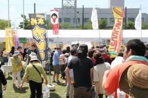 JAグループ秋田のブースにも多くの人が訪れた