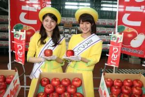 JA秋田ふるさとがりんご出発式。関東や関西、中京市場へ出発