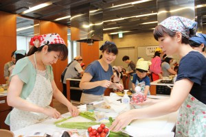 JAが子育て世代向けサークルで料理講習を開催